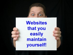 Sites you can maintain yourself
